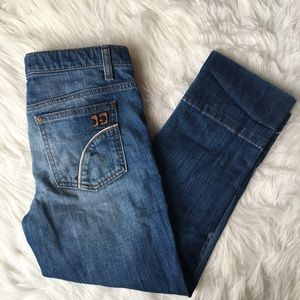 Joe's Skinny Cropped Cuff Jeans